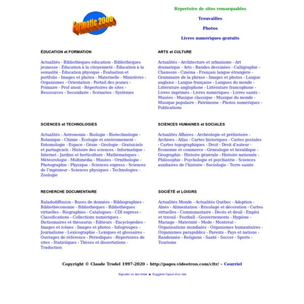 Répertoire thématique de sites Internet