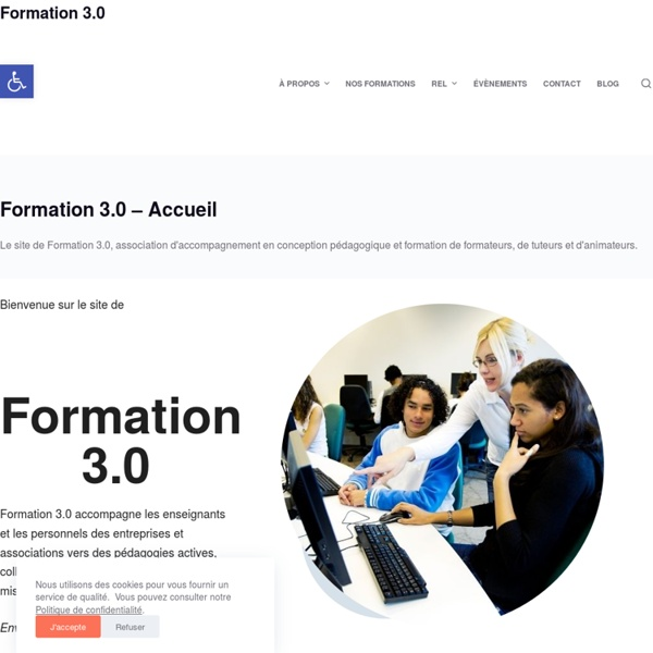 Formation 3.0 est un blog dédié à la formation, à l'éducation, à l'emploi des nouvelles technologies dans l'enseignement et à la pensée visuelle.