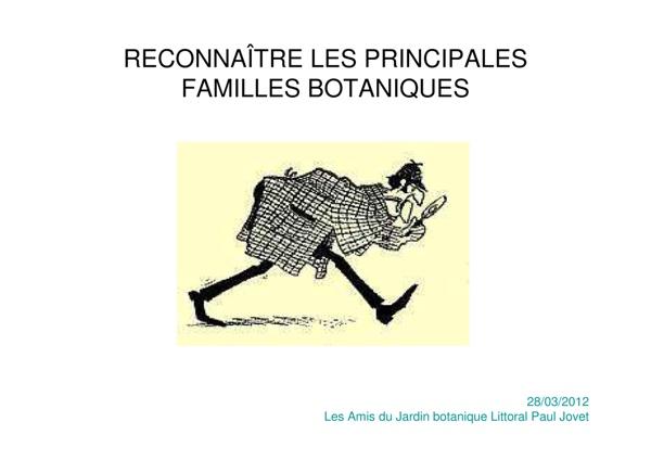 Microsoft PowerPoint - Formation botanique 2012 - Formation botanique 2012 - pples familles.pdf