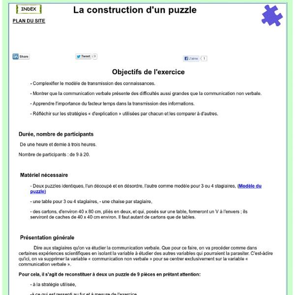 Construction d'un puzzle