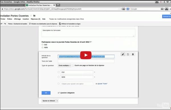 Formation : créer des formulaires avec Google Drive