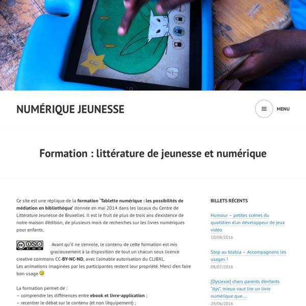 Formation : littérature de jeunesse et numérique