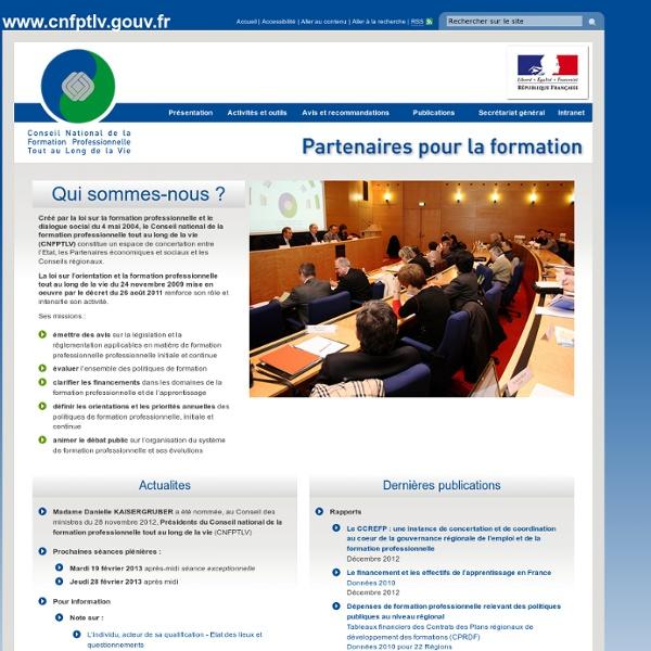 Conseil National de la Formation Professionnelle Tout au Long de la Vie (CNFPTLV )