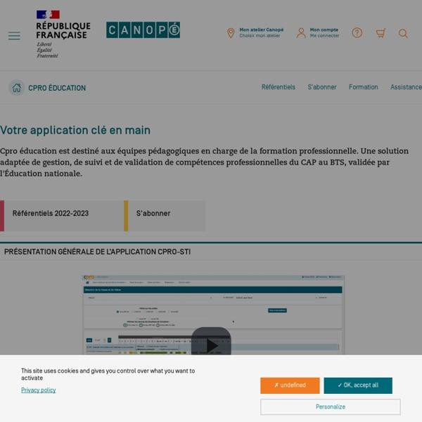 Pilotez la formation professionnelle - Cpro éducation