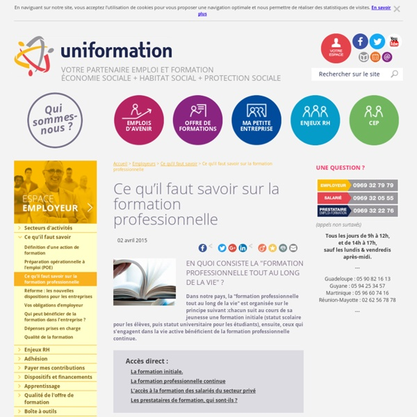 Formation professionnelle, FONGECIF, formation professionnelle pour adulte : Uniformation