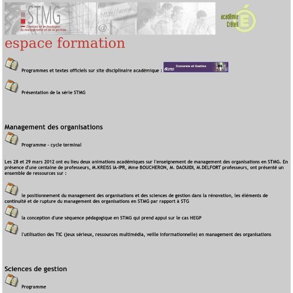Formation STMG