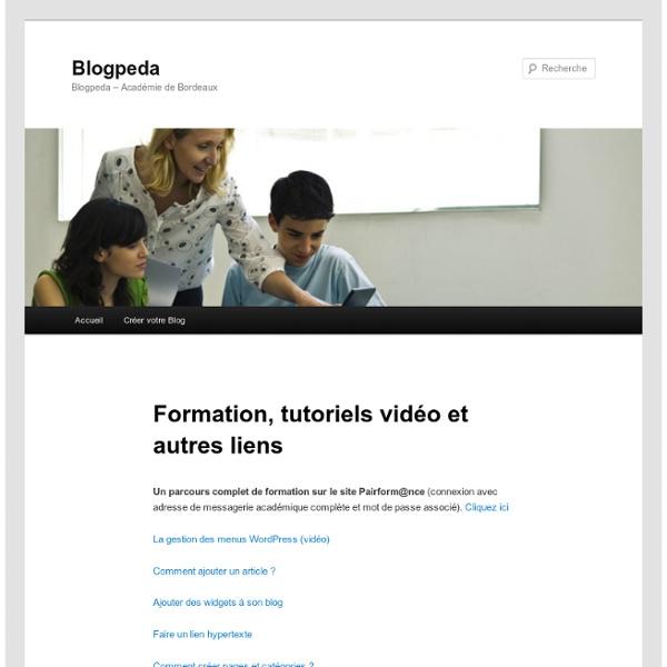 Formation, tutoriels vidéo et autres liens