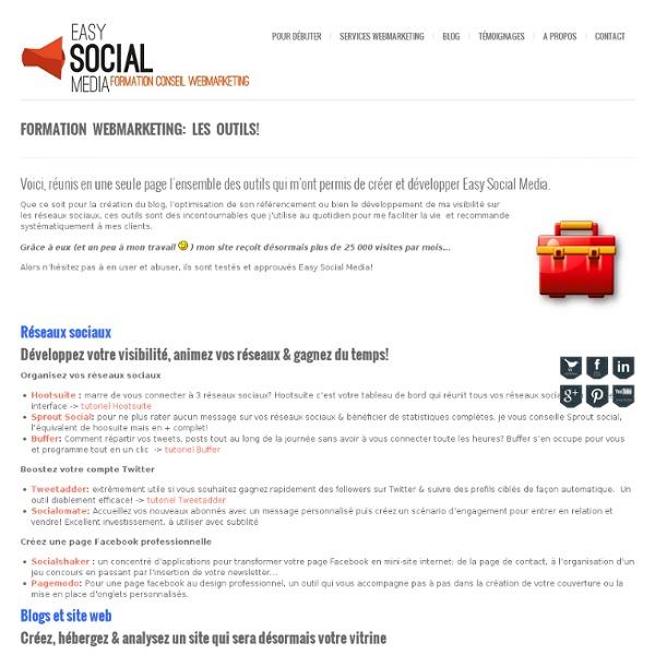 Formation marketing internet et réseaux sociauxFormation webmarketing: les outils!