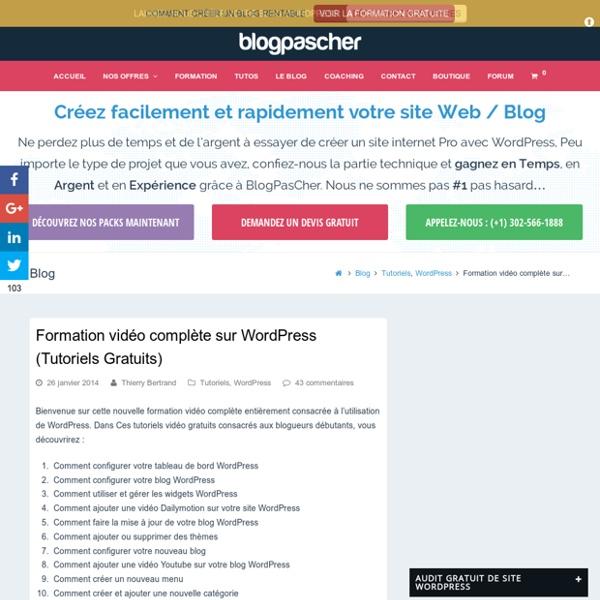 Formation vidéo complète sur WordPress (Tutoriels Gratuits)