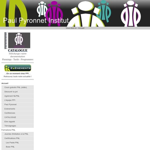 Formations PNL certifiantes, Formation de formateurs, Ecole de coaching