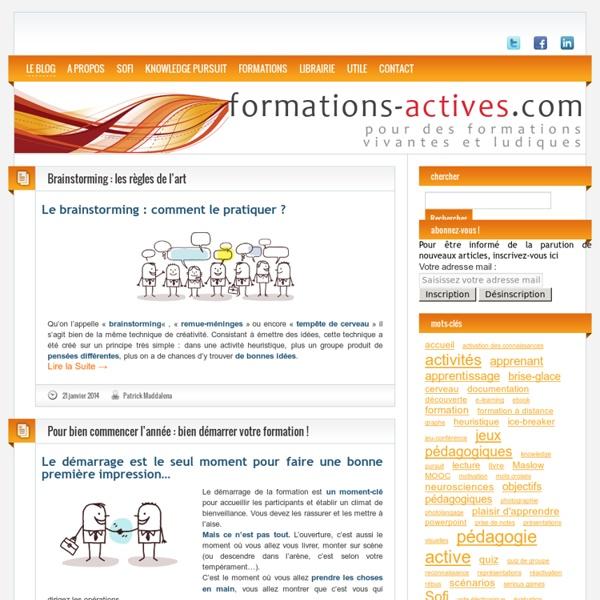 Des outils et des idées pour des formations actives, ludiques et conviviales