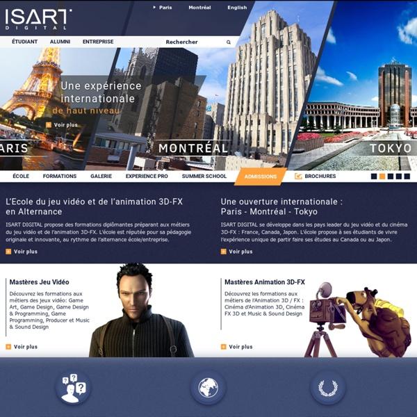 ISART DIGITAL : l'école du Jeu Vidéo et de l'Animation 3D