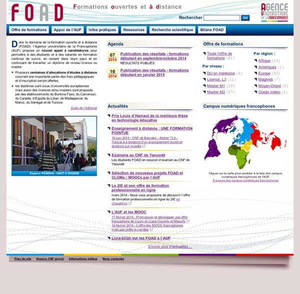 FOAD - Formations ouvertes et à distance