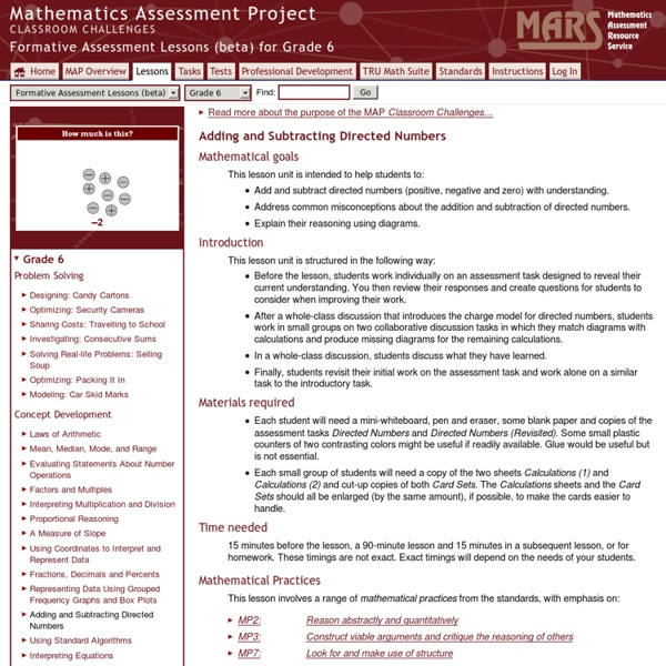 Formative Assessment Lessons (beta)