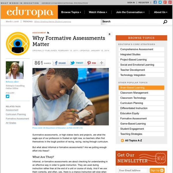 Why Formative Assessments Matter
