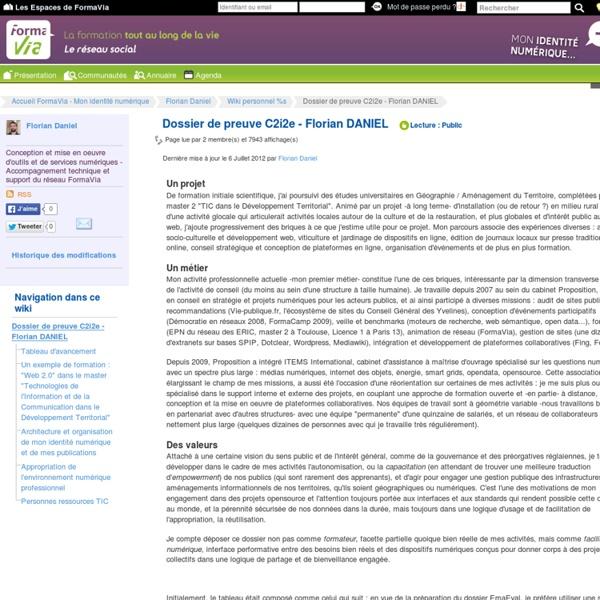 Exemple de dossier C2i2e - Formateur