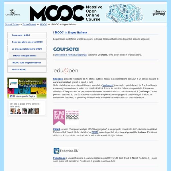 MOOC in italiano - Formazione on line - TorinoGiovani