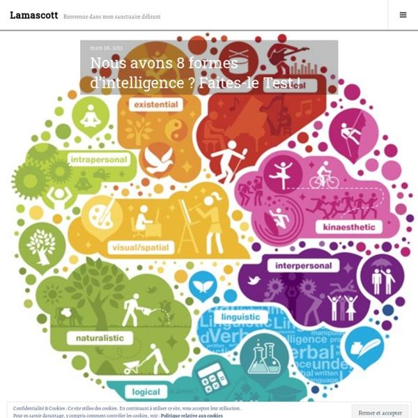 Nous avons 8 formes d'intelligence ? Faites-le Test ! – Lamascott