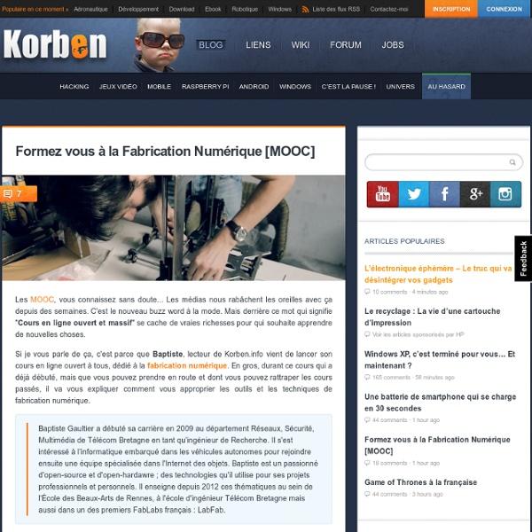 Formez vous à la Fabrication Numérique [MOOC]