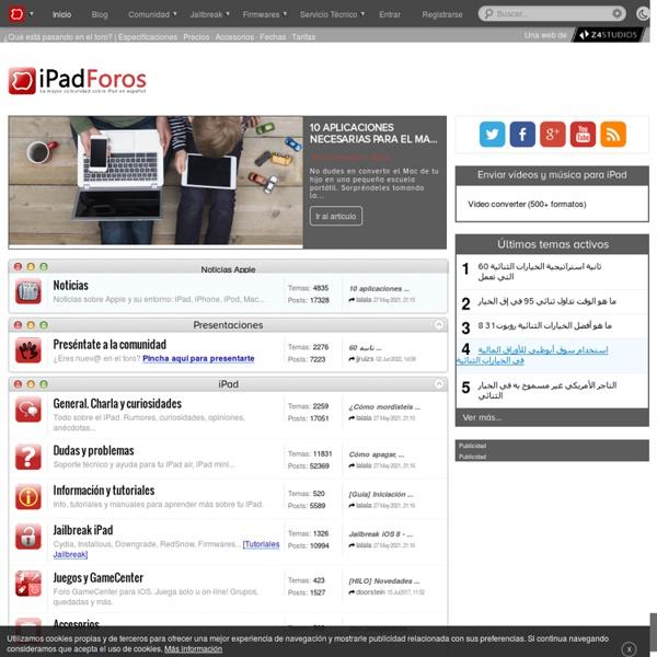 La Mayor Comunidad sobre iPad en Español