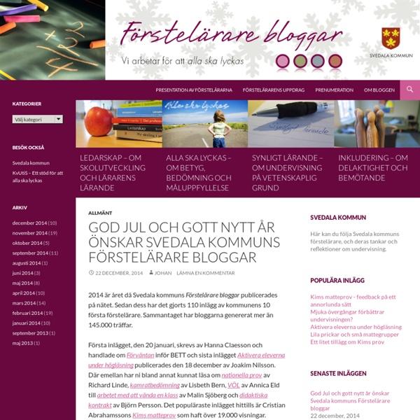 Förstelärare i Svedala - Undervisning och lärande