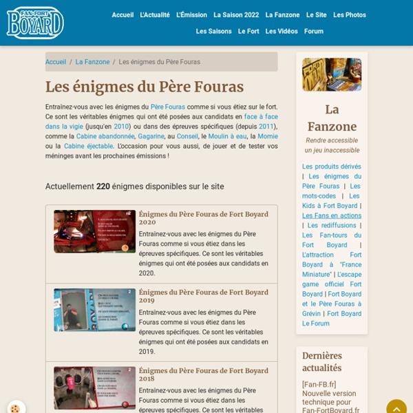 Fort Boyard - Les énigmes du Père Fouras