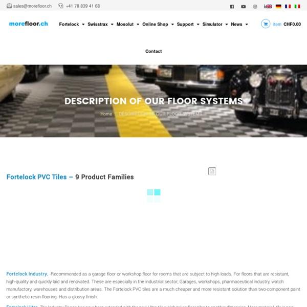 FLOORING PRODUCTS - Fortelock Industry