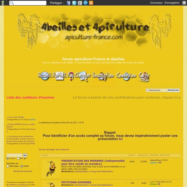 Forum : abeilles et apiculture