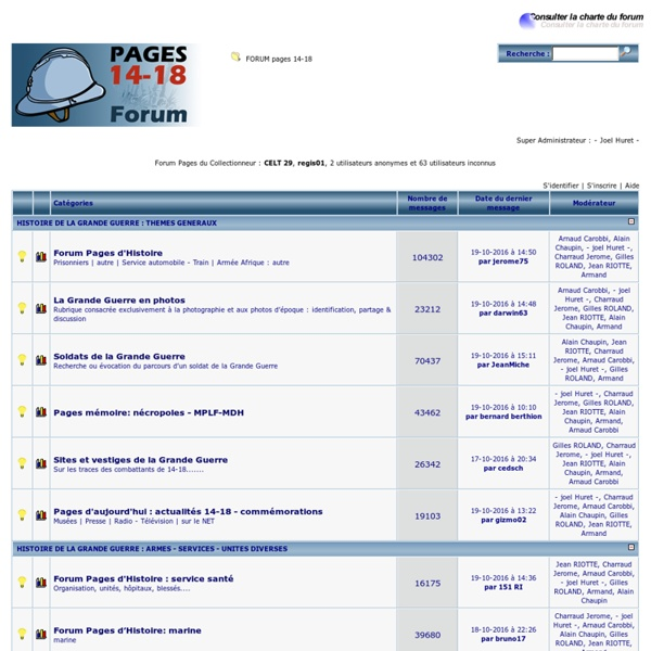 FORUM pages 14-18
