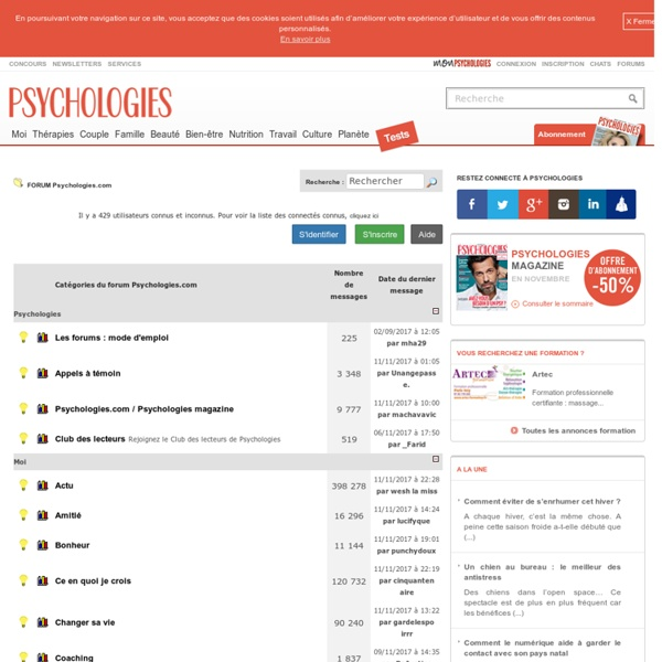 Forum Psychologie - Forum Psychologies.com