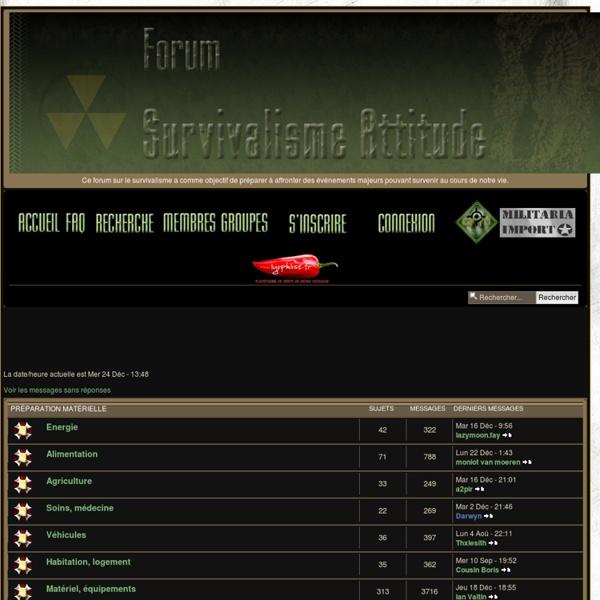 Forum Survivalisme Attitude