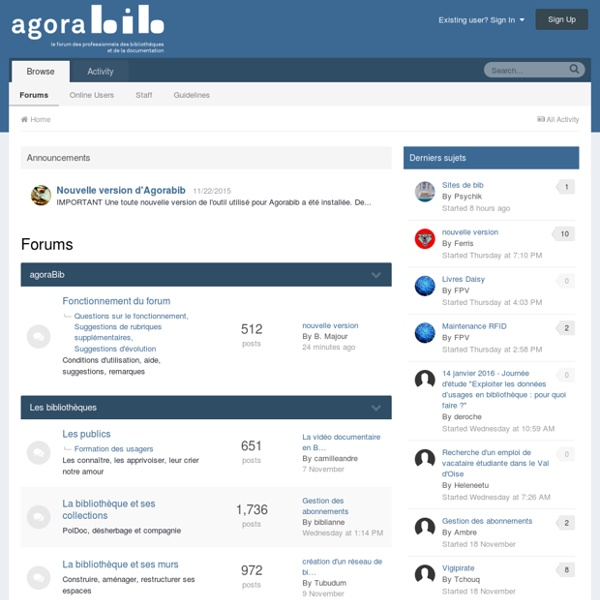 Agorabib Forums