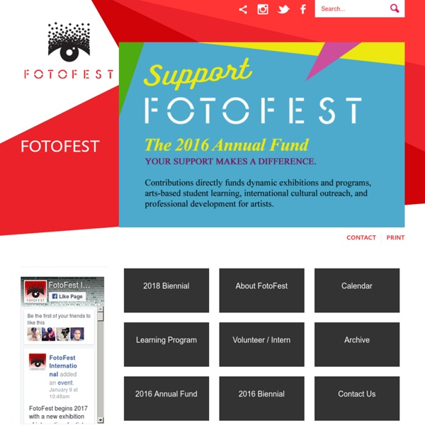 FotoFest International - The United States' Oldest and Largest International Photography Festival