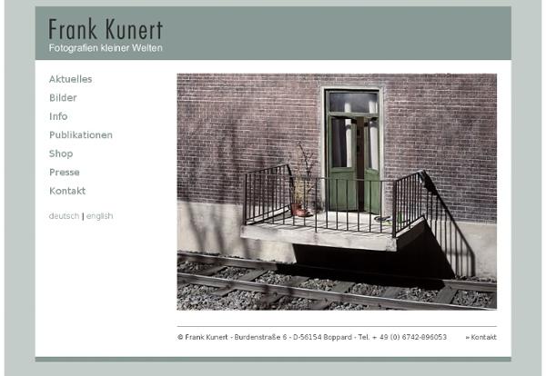 Frank Kunert - Fotografien kleiner Welten - Willkommen
