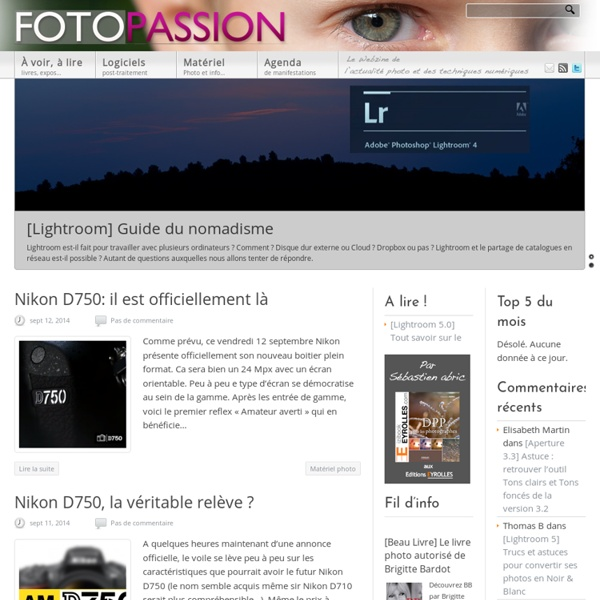 FotoPassion site Photo Numérique