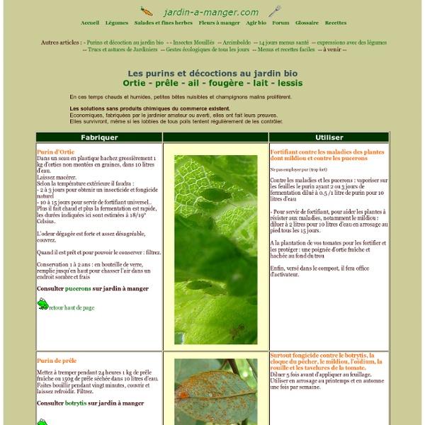 les purins de plantes pdf