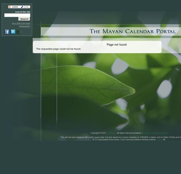 The Mayan Calendar Portal