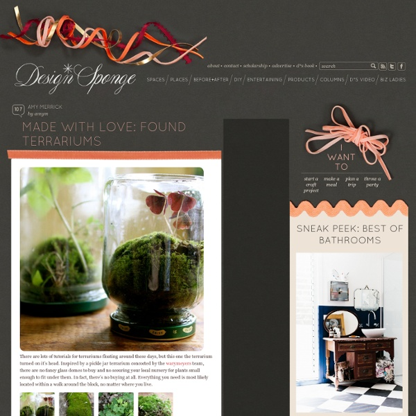Made with love: found terrariums