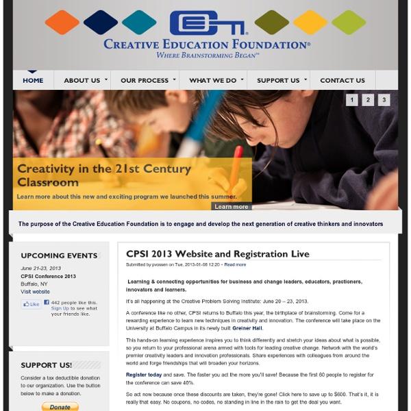 Creative Education Foundation (CEF) - Where Brainstorming Began