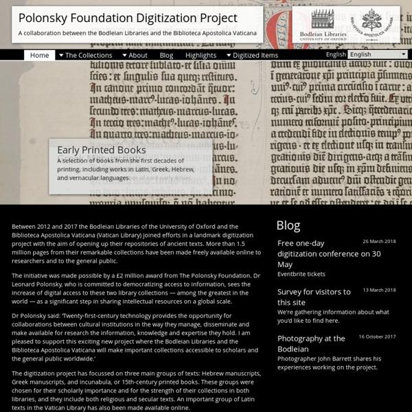 Polonsky Foundation Digitization Project