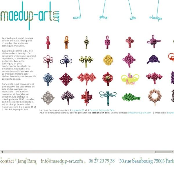 Le cours des noeuds coréens à Paris, Le fournisseur de cordon de soie, La création de bijoux et accessoires de la mode en noeud