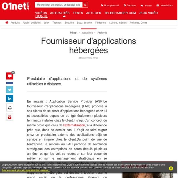 Fournisseur d'applications hébergées