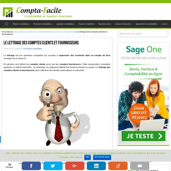 Réaliser le lettrage des clients et des fournisseurs en comptabilité