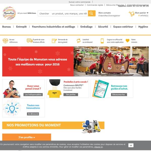 Manutan: fournitures industrielles, outillage, manutention, mobilier de bureau