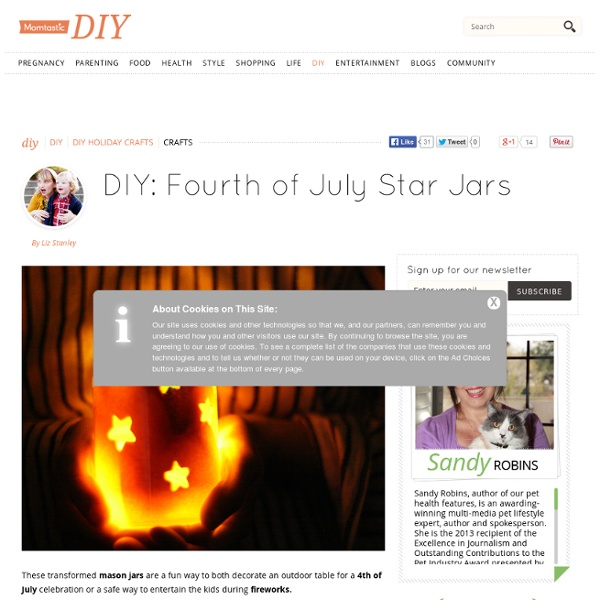 Fourth of July Star Jars