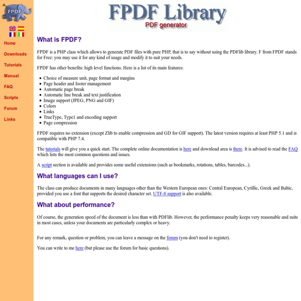 FPDF PHP CLASS ADOBE EBOOK DOWNLOAD