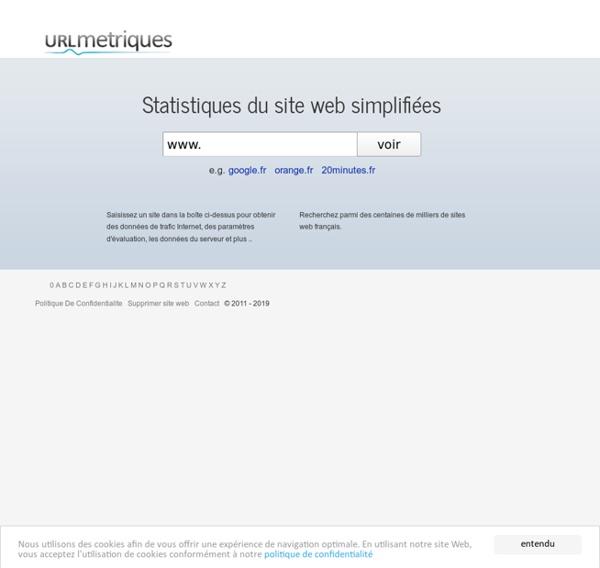 Statistiques du site web simplifiées