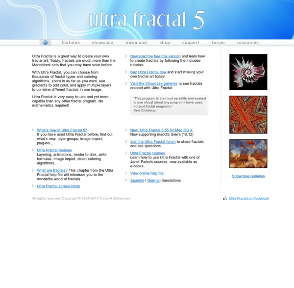 Ultra Fractal: Advanced Fractal Software for Windows and Mac OS X