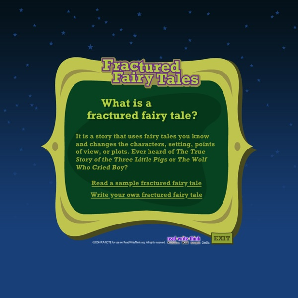 read write think fractured fairy tales Answer questions to compare and contrast the adventures and experiences of characters in familiar stories.