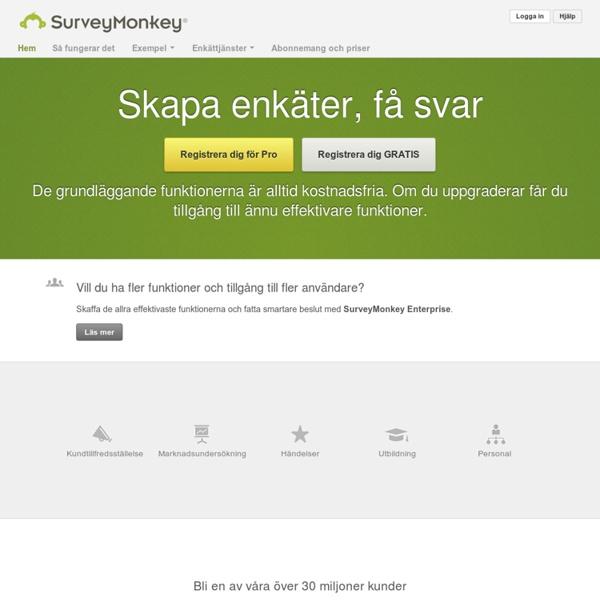 SurveyMonkey: Gratis webbenkäter & frågeformulärverktyg